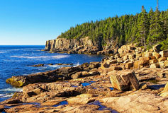 Otter Cliff. Acadia N.P. Maine Otter Cliff with boulder coast stock photography