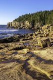 Otter Cliff. In the background of the rocky Desert Island coast stock photo