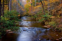 Otter Creek in Fall Royalty Free Stock Image