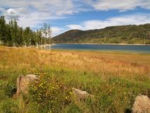 Otter Creek Reservoir near Antimony, Utah. Otter Creek Reservoir is a high alpine reservoir elevation approximately 6,372 ft or 1,940 m located in Piute County royalty free stock image