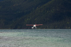 Otter Float plane taking off from Muncho Lake Royalty Free Stock Images