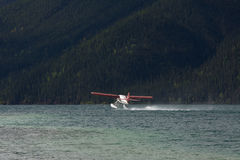 Otter Float plane about to take off from Muncho Lake, northern British Columbia Stock Image