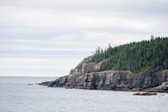 Otter-Klippe im Acadia-Nationalpark Lizenzfreie Stockbilder
