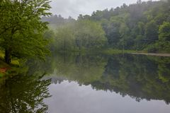 Otter See, blauer Ridge Parkway, Virginia stockbild