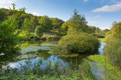 Otterhead Lakes East Devon England uk in the Blackdown Hills. Area of Outstanding Natural Beauty stock image