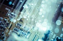 Ottica. Cavi a fibre ottiche, collegamento della fibra, telecomunications Fotografia Stock Libera da Diritti