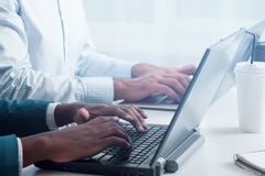 Ottimizzazione del sito Web SEO con le nuove tecnologie immagini stock
