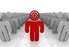 Ottimizzazione del vostro cliente come bersaglio Immagini Stock Libere da Diritti