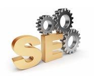 Ottimizzazione di SEO. illustrazione 3D. Isolato Immagine Stock Libera da Diritti