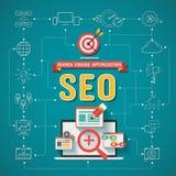 Ottimizzazione Infographics del motore di SEO Search Fotografia Stock