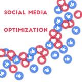 Ottimizzazione sociale di media Immagine Stock Libera da Diritti