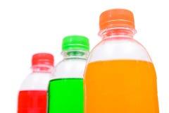 Ottle of cream, orange and strawberry soda Royalty Free Stock Image