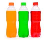 Ottle of cream, orange and strawberry soda Royalty Free Stock Images
