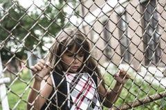 Otto anni della ragazza della scuola Fotografie Stock