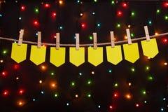 Otto bandiere festive Fotografia Stock Libera da Diritti