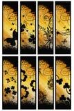Otto bandiere verticali Fotografia Stock Libera da Diritti