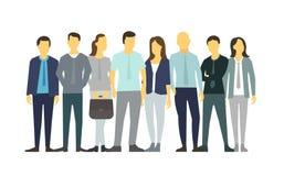 Otto genti nella linea la gente del gruppo illustrazione di stock