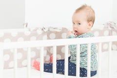Otto mesi della neonata Immagine Stock