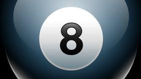 Otto palla, biliardo, gioco dello stagno Fotografia Stock