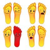 Otto piedi del piede di archivio sorridente di vettore ENV illustrazione di stock