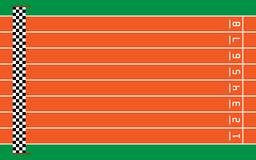 otto piste correnti su verde con lo scopo, illustrazione di vettore Immagini Stock Libere da Diritti
