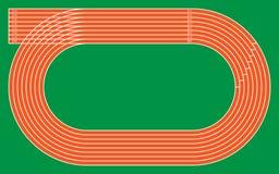 otto piste correnti su verde per il modello e la progettazione, illu di vettore Fotografia Stock Libera da Diritti