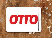 OTTO retailer logo. Logo of OTTO retailer on samsung tablet on wooden background. OTTO is a broad based retailer that sells its own products alongside those of Royalty Free Stock Image