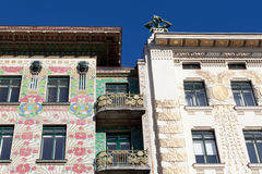 Otto Wagner architecture, art nouveau Stock Photos