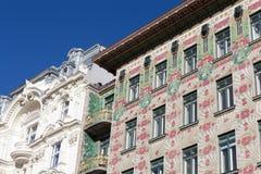 Otto Wagner architecture, art nouveau Stock Image