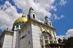 Otto Wagner Church, Vienna. Architecture in art nouveau style royalty free stock photos