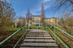 Otto Wagner Hospital in Wenen, Oostenrijk stock foto