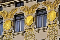 Otto Wagner House, Wien Royalty-vrije Stock Afbeelding