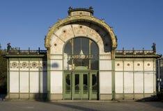 Otto Wagner Pavilion Karlsplatz, Vienna Stock Photos