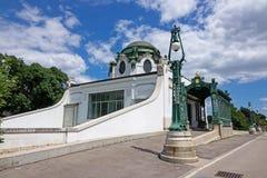 Otto Wagner Pavilion Vienna Stock Image