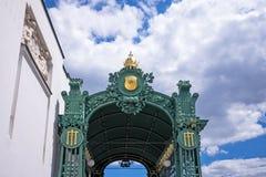 Otto Wagner Pavilion Vienna Royalty Free Stock Photo