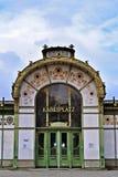 Otto Wagner Pavilon dans Wien Images stock