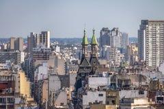 Otto Wolf Building Towers και εναέρια άποψη του στο κέντρο της πόλης Μπουένος Άιρες - του Μπουένος Άιρες, Αργεντινή Στοκ φωτογραφίες με δικαίωμα ελεύθερης χρήσης