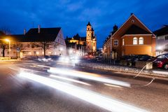 Ottobeurren镇,巴伐利亚,德国 库存照片
