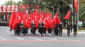 29 ottobre celebrazione di giorno della Repubblica della Turchia Immagini Stock Libere da Diritti
