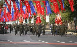 29 ottobre celebrazione di giorno della Repubblica nel 2017 Fotografia Stock