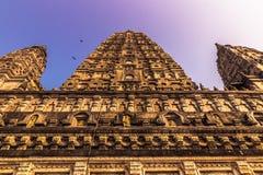 30 ottobre 2014: Dettaglio del tempio di Mahadobhi in Bodhgaya, dentro Fotografia Stock