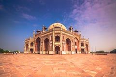 29 ottobre 2014: Dettaglio di Humayun Tomb a Nuova Delhi, India Fotografie Stock