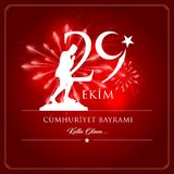 29 ottobre giorno della Turchia Immagine Stock