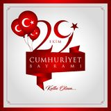 29 ottobre giorno nazionale della Repubblica della Turchia Immagini Stock Libere da Diritti