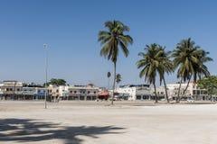 21 ottobre 2015, l'Oman, Salalah, alloggia i negozi vicino a vecchio souq del sultanato Medio Oriente Immagine Stock Libera da Diritti