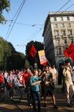 18 ottobre 2014 Miano, contro-marzo Lega Nord Fotografia Stock