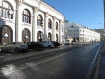 5 OTTOBRE, 2016, MOSCA, RUSSIA: Vecchia pensione sulla via di Ilyanka a Mosca Fotografie Stock