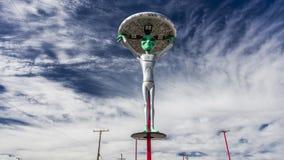 12 ottobre 2016 - 'panettiere di Jerkey fresco straniero', CA - un dipinto di un Alient e di una vita extraterrestra Immagine Stock