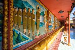 26 ottobre 2018 - Siem raccoglie:: scultura a Wat Preah Prom Rath fotografia stock