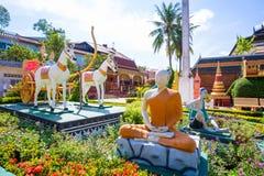 26 ottobre 2018 - Siem raccoglie:: scultura a Wat Preah Prom Rath immagini stock libere da diritti